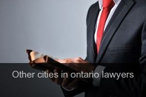 Other cities in ontario Lawyers